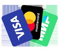 Оплата банковской картой и наличными